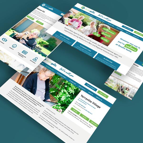 Various screens of Doutta Galla website