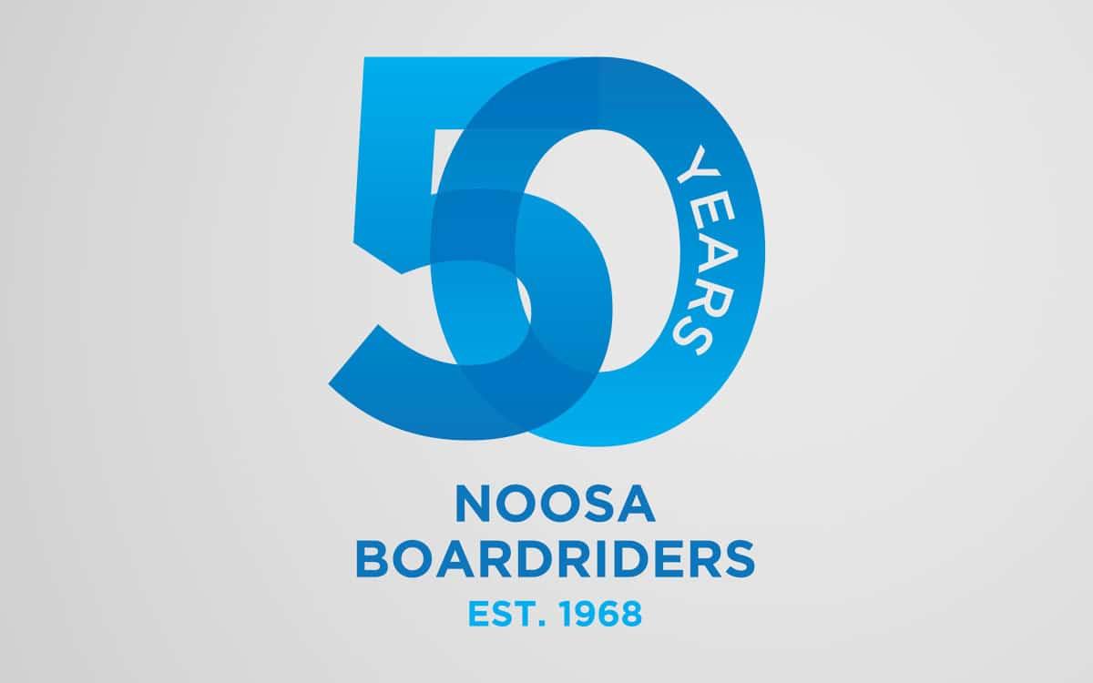Noosa Boardriders 50th anniversary logo