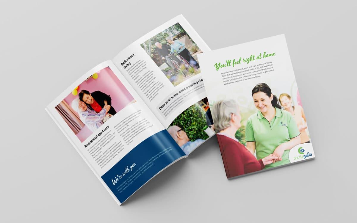 Doutta Galla corporate A4 brochure