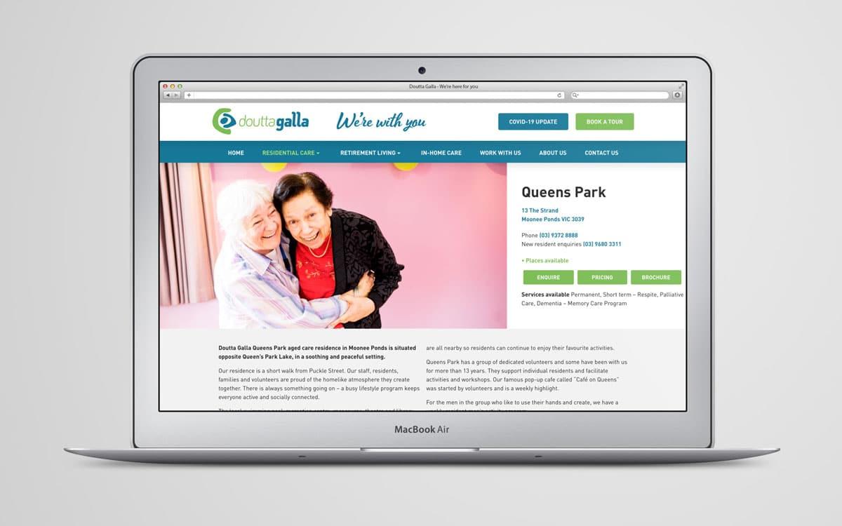 Doutta Galla website on Queens Park page