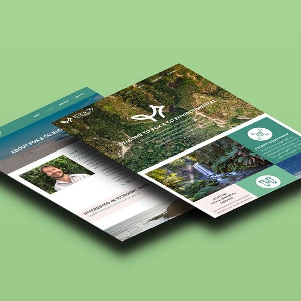Fox & Co Environmental website screens