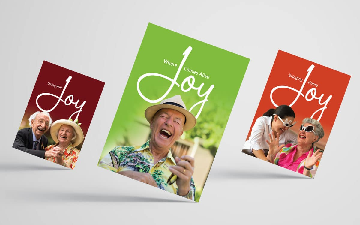 Living Care brochure covers