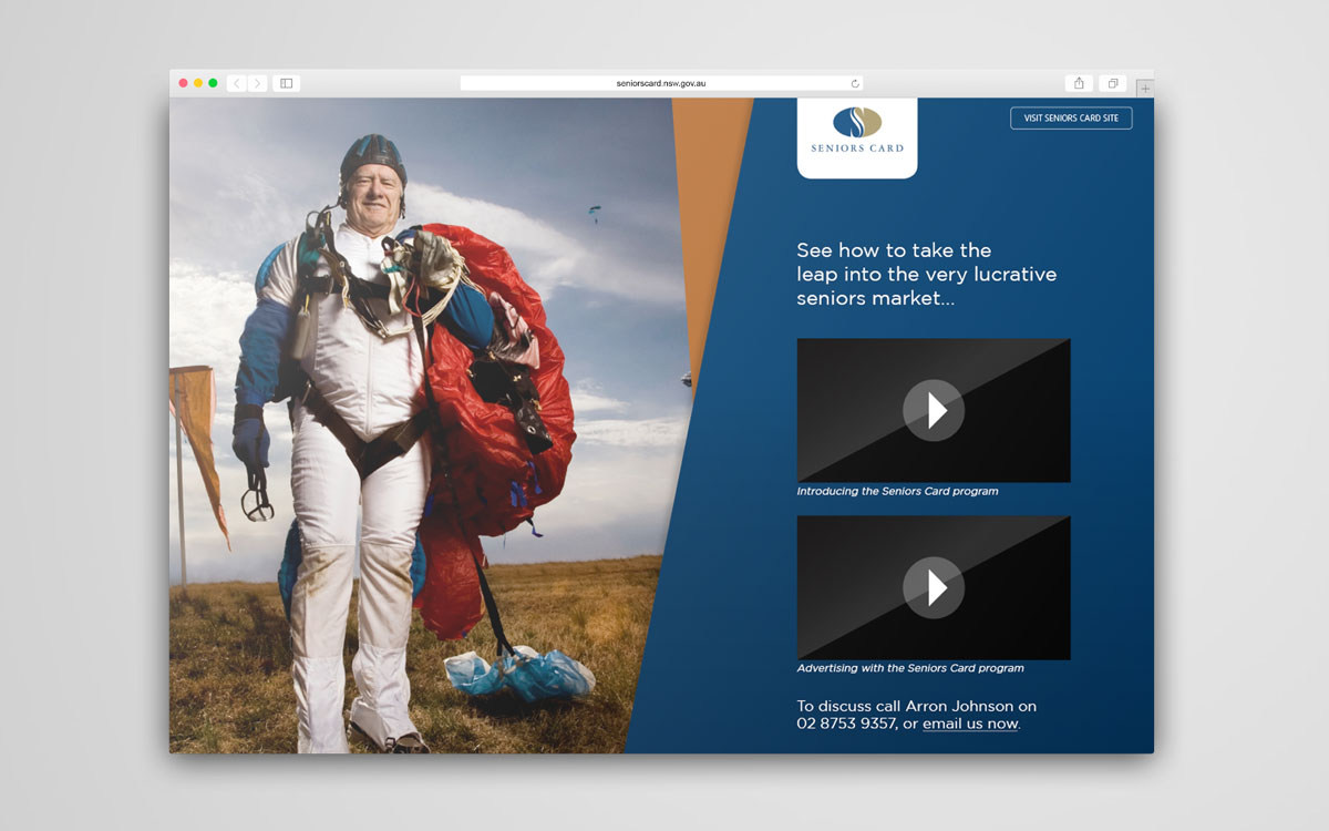 New South Wales Seniors Card landing page