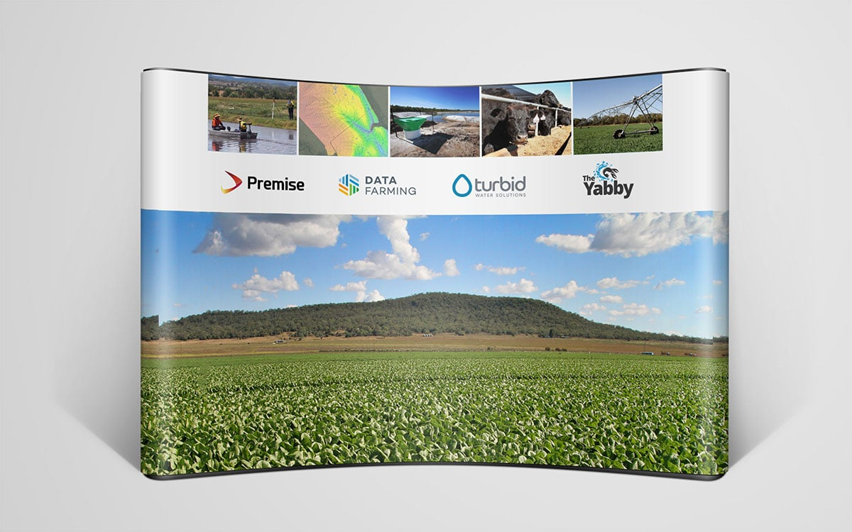 The Yabby trade show signage