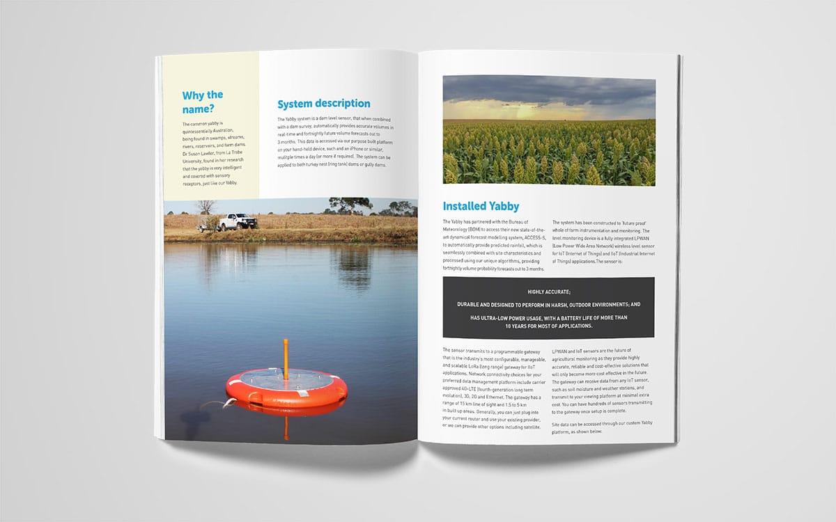 The Yabby inside spread of brochure