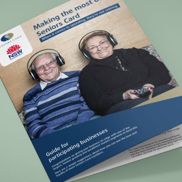 New South Wales Seniors Card business booklet
