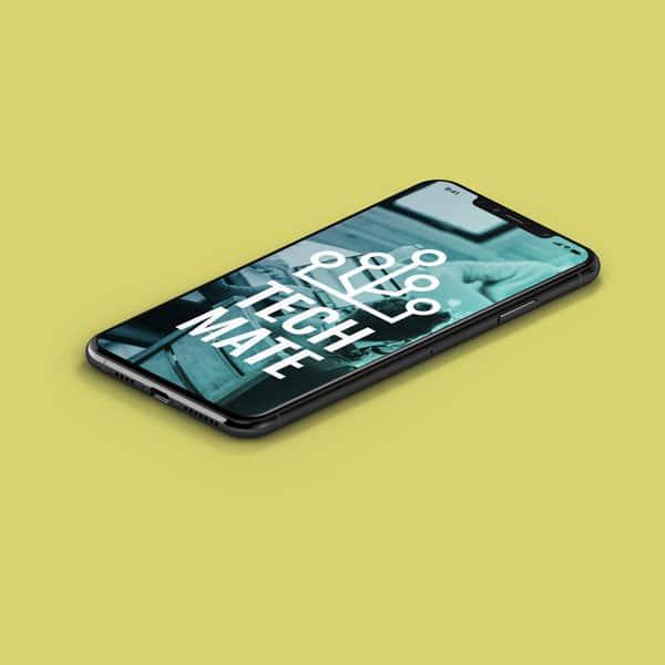 Tech Mate website on phone